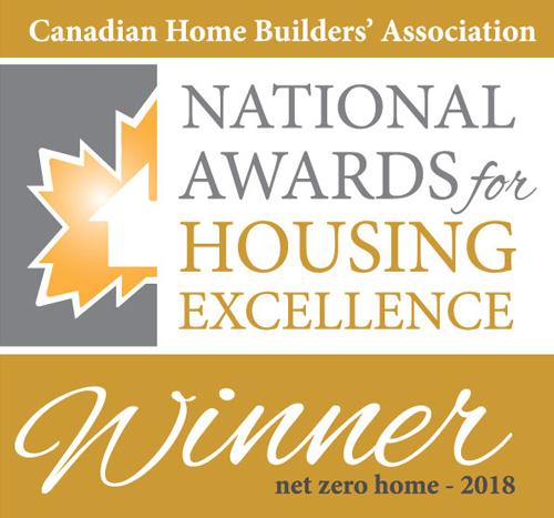 National Awards for Housing Excellence Winner - Net Zero Home 2018